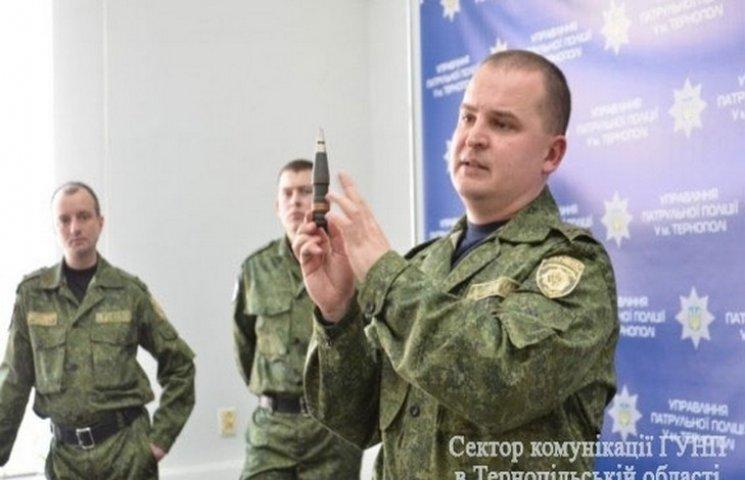 Патрульні поліцейські Тернополя сіли за парти