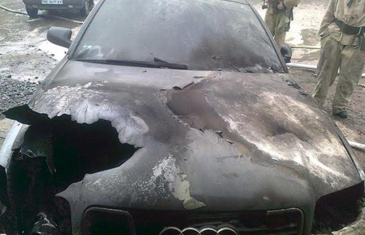 На Миколаївщині згоріла Audi А-6