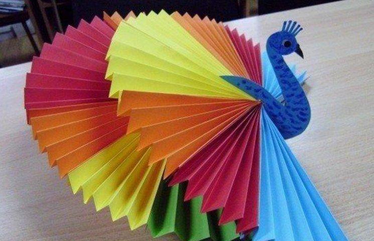 Поделки для детей из цветной бумаги видео 4