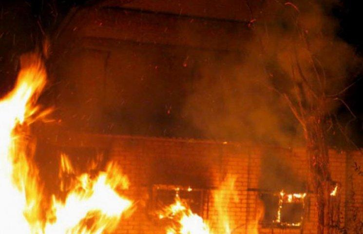 У Мелітополі згорів нежитловий будинок
