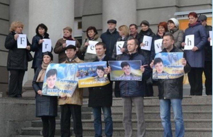 На підтримку Надії Савченко придніпровські поїзди дали символічний гудок