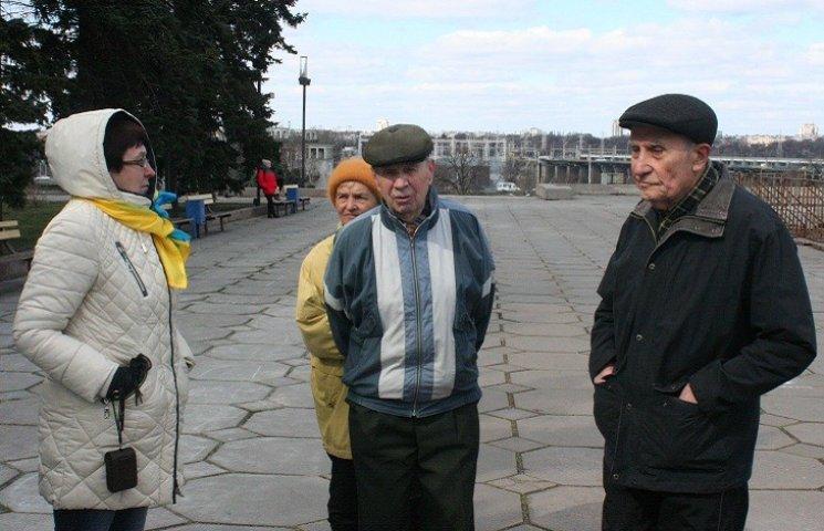 Біля запорізького Леніна посварилися прибічники та противники декомунізації