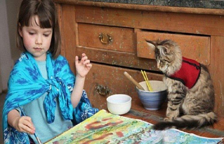 Дівчинку-аутистку навчила говорити кішка