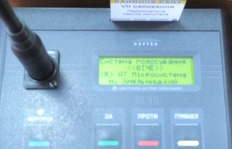 У Вінницькій райраді запровадили поіменне голосування