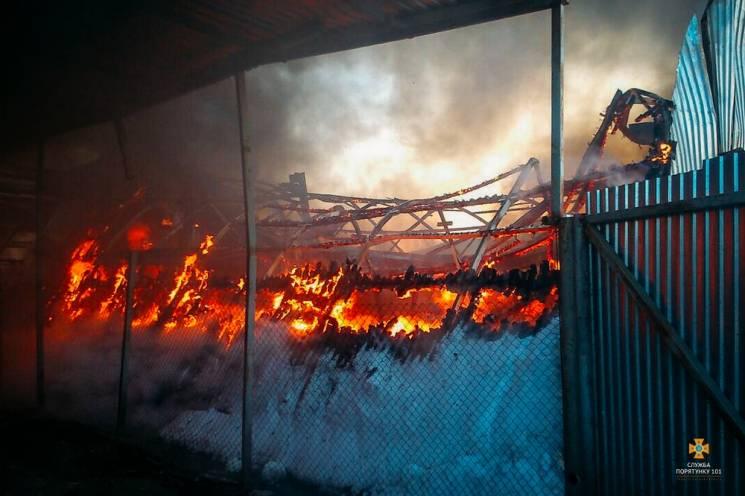 На Тернопольщине сгорел гаражный ангар с…