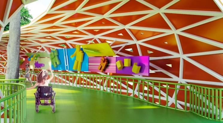 У Дніпрі частину скверу Героїв перетворять на парк розваг для дітей з інвалідністю