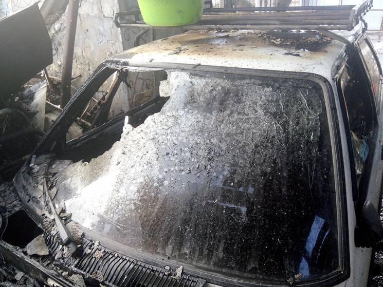 На Миколаївщині згорів автомобіль (ФОТО)