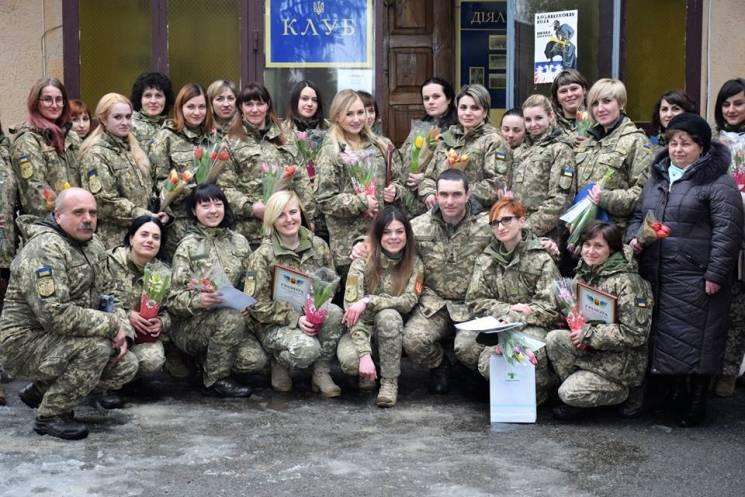 Тернопільські жінки-армійці приймали вітання зі святом (ФОТО)