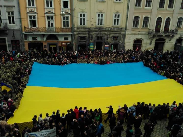 У Львові відбулося масове виконання гімн…