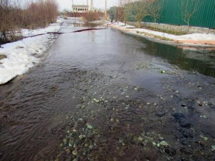 Талий сніг продовжує топити будинки та дороги на Полтавщині (ФОТО)