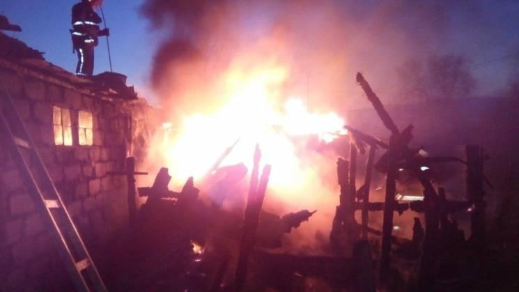 На Запоріжжі сталася масштабна пожежа в гаражному кооперативі (ФОТО)