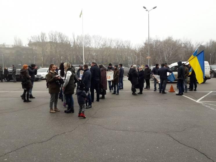 Біля стін облради мітингували проти роздільнянських чиновників і призначення Ройтбурда (ФОТО,ВІДЕО)