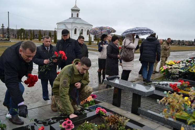 З нагоди Дня українського добровольця в Кам'янці пам'янули полеглих АТОвців (ФОТО)