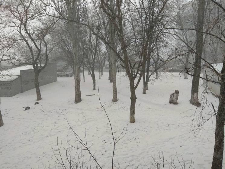 """Одесу засипає """"іржавим"""" снігом (ФОТО)"""