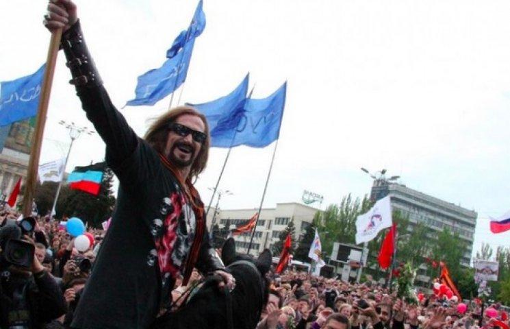 Никита Джигурда на коне прискакал на митинг сепаратистов в Донецке