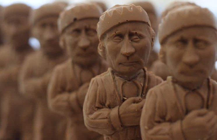 Во Львове продают шоколадного Путина в тюремной робе