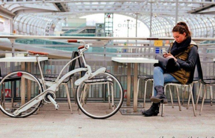 Итальянец создал велосипед, который помещается в рюкзак