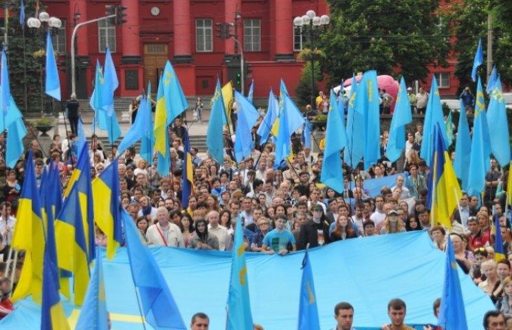Киев поддержал крымских татар гимном и обращением к Путину: «Вовка, пошел вон!»