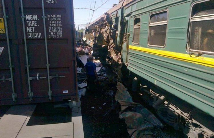 Под Москвой товарняк врезался в пассажирский поезд: есть жертвы