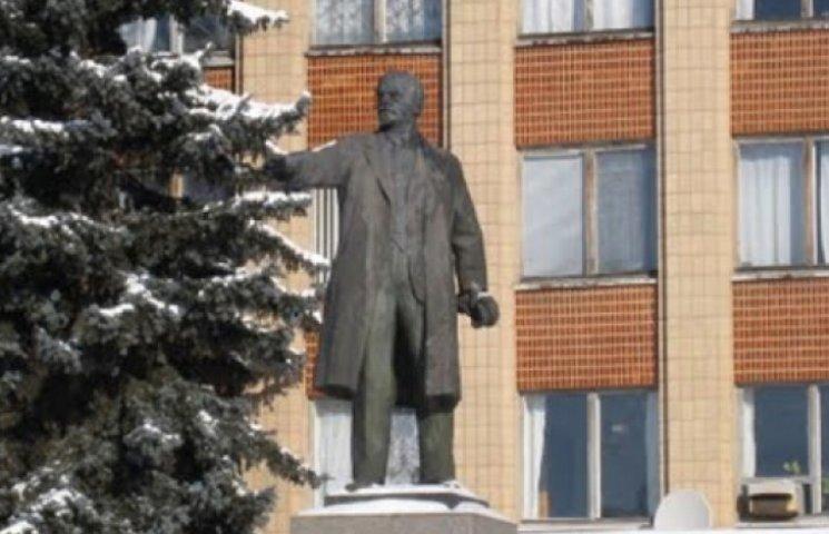 На Житомирщине свалили последнего Ленина