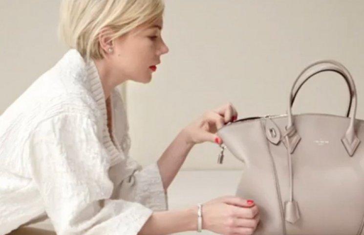 Мишель Уильямс прорекламировала сумку Louis Vuitton