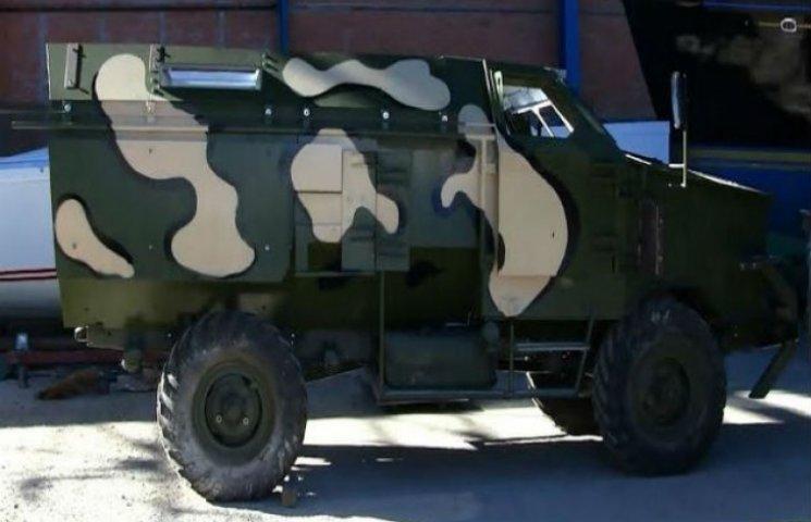 На Сумщині випробували бронемашину, яка поїде до АТО (ВІДЕОФАКТ)