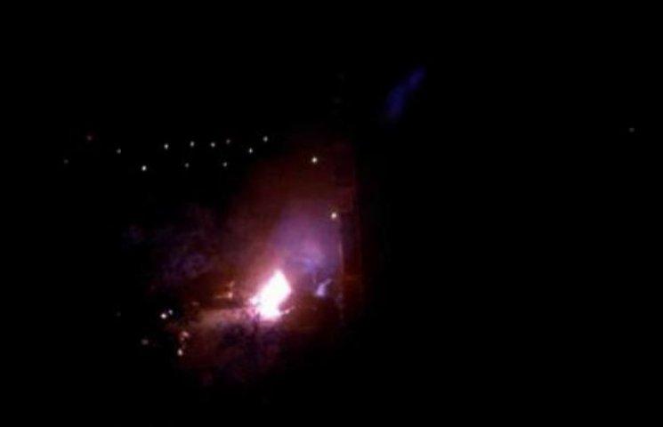 В Ужгороді згоріло авто міліціонера-високопосадовця