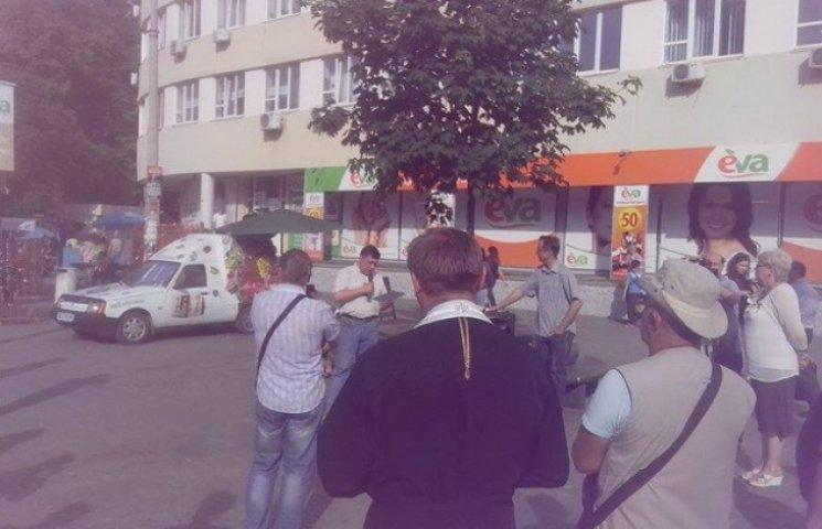 Помітингувати проти Порошенка у Дніпропетровську прийшло 20 людей (ФОТО)