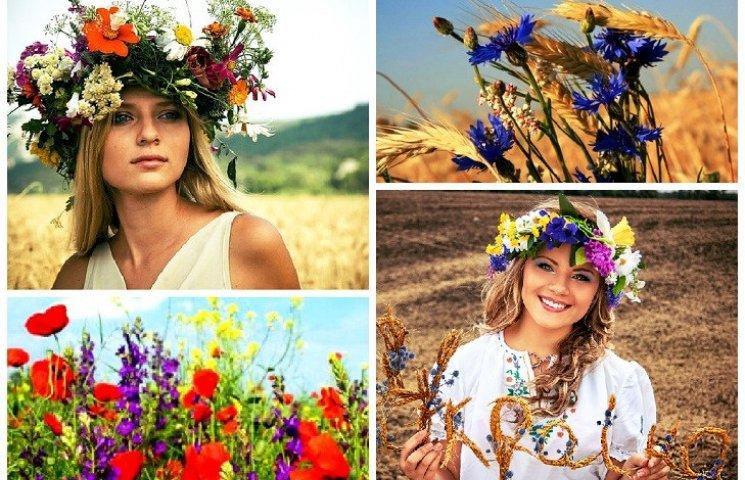 Квіти у волоссі - знову в моді українські віночки