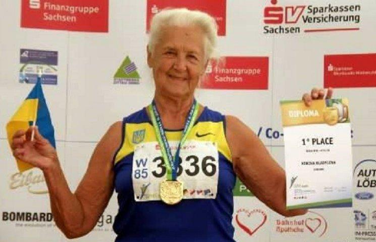 У Кривому Розі в забігу взяла участь 90-річна спортсменка
