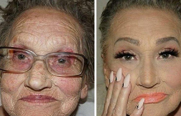 Как 80-летняя бабушка стала звездой интернета благодаря удачному макияжу