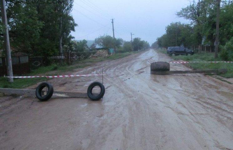 Під Одесою протестуючі селяни вже другу добу перекривають дорогу