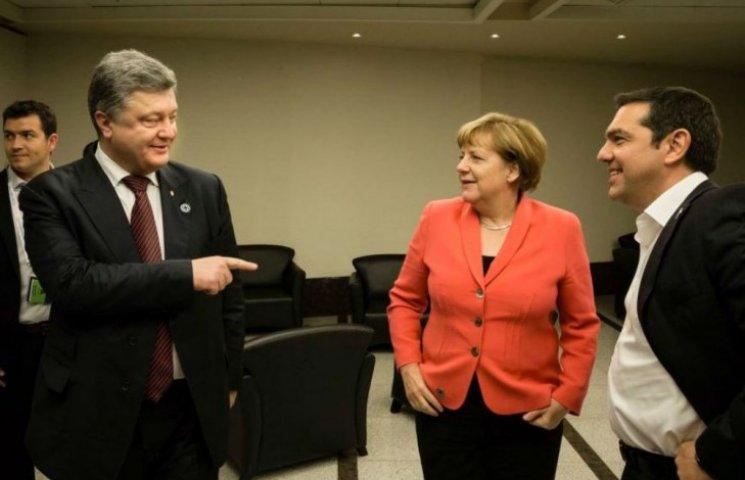 Порошенко у Стамбулі поговорив з Меркель і Ципрасом