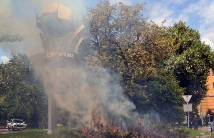 В Одесі ледь не згоріла прохідна до нафтопереробного заводу