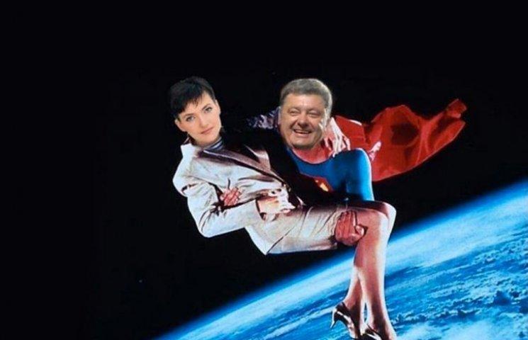 Хто зістрибнув з шасі літака Савченко