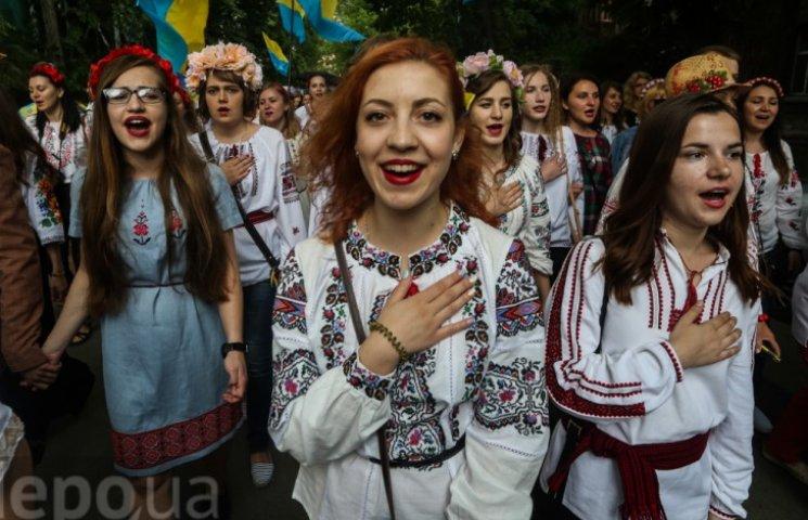 Как прошел 17-й Мегамарш вышиванок в Киеве