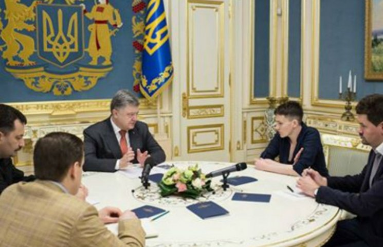 Порошенко тепер узгоджує плани із Савченко: щодо санкцій і звільнення заручників (ФОТО)