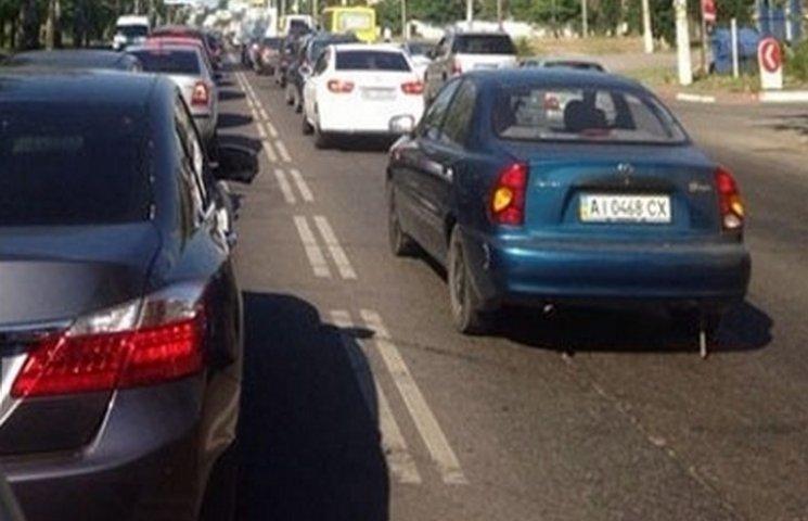 В Одесі ранкові ДТП створили затор довжиною в кілька кілометрів