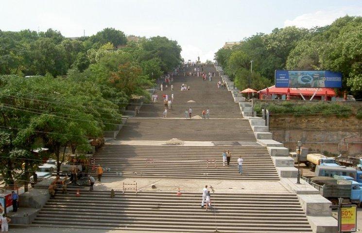 Реставрацію Потьомкінських сходів в Одесі призупинили тільки розпочавши