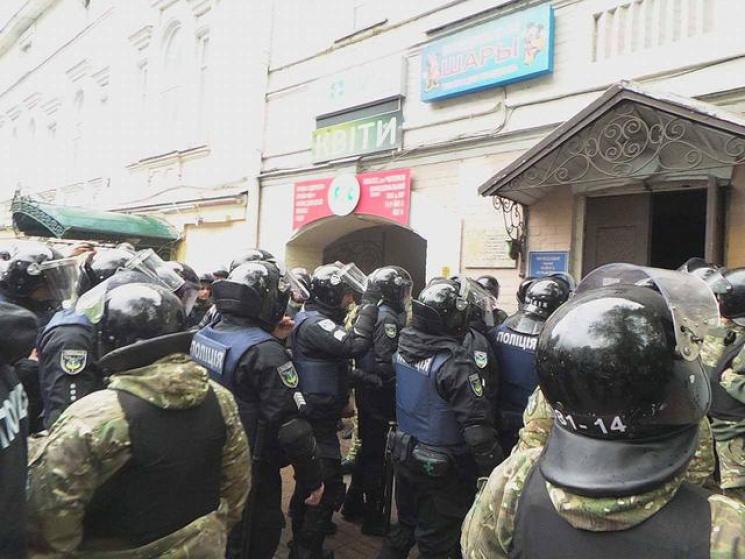 ВКиеве полицейский пострадал вовремя массовых мероприятий