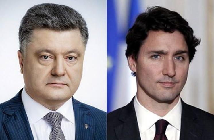 Переговоры Украина-Канада: Порошенко поднял вопрос обезвизе