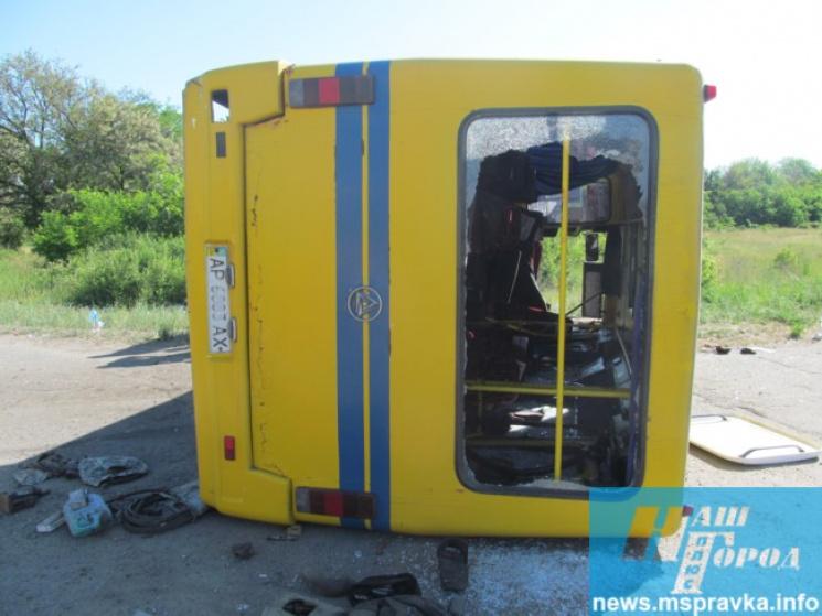 УЗапорізькій області маршрутка потрапила уДТП, 32 постраждалих