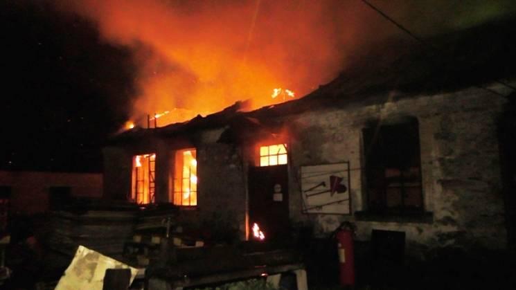 На Житомирщині горіла паперова фабрика (ФОТО)
