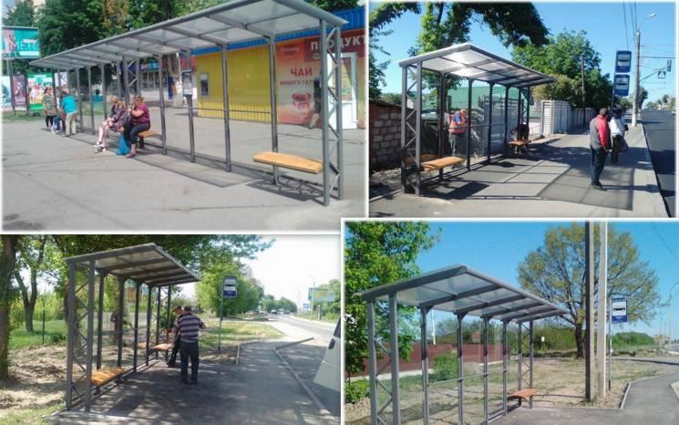 У Вінниці обладнали павільйонами ще шість транспортних зупинок