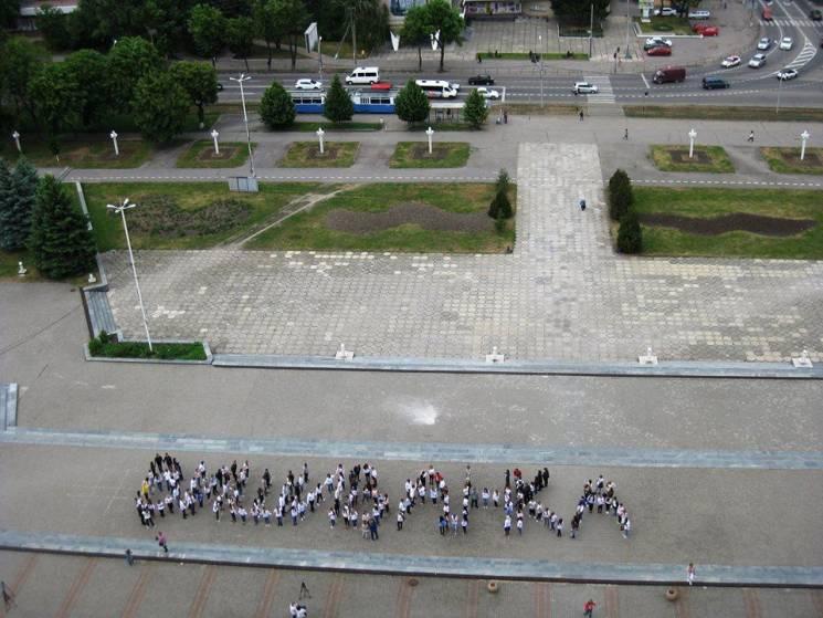 Як вінницькі студенти прославляли вишиванку (ФОТО)