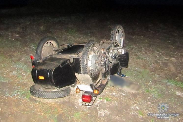 На Хмельниччині перекинувся мотоцикл. Водій загинув (ФОТО)