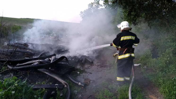 На Полтавщині бійці ДСНС загасили пожежу на площі 0,8 га (ФОТО)
