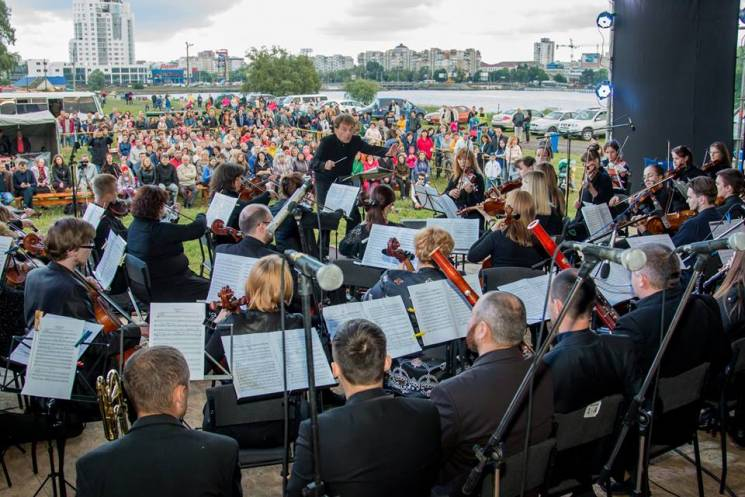 """Хмельницький, Моцарт і """"Чарівна флейта"""": На міському пляжі відбулося ClassicOpenAirShow (ФОТО,ВІДЕО)"""