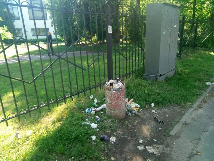 Як кияни кидають сміття повз урни (ФОТО)