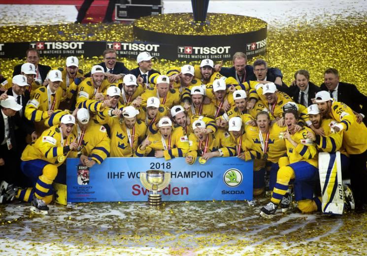 Збірна Швеції вдруге поспіль стала чемпіоном світу з хокею (ВІДЕО)